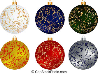 Christmas globes set - A Christmas set of colorful globes...