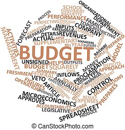 Word cloud for Budget - Abstract word cloud for Budget with...