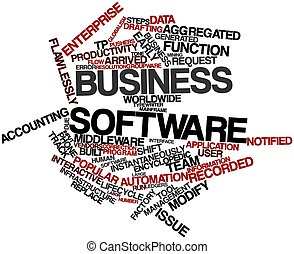 Word cloud for Business software - Abstract word cloud for...