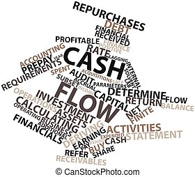 Word cloud for Cash flow - Abstract word cloud for Cash flow...