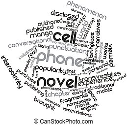 Cell phone novel - Abstract word cloud for Cell phone novel...