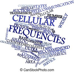 Cellular frequencies - Abstract word cloud for Cellular...