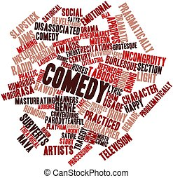 Comedy - Abstract word cloud for Comedy with related tags...
