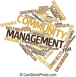 Community management - Abstract word cloud for Community...