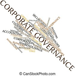 Word cloud for Corporate governance - Abstract word cloud...