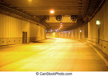Expressway in a tunnel, Santiago, Chile, South America