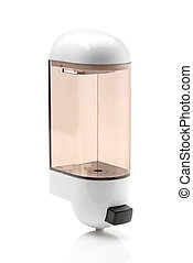 Soap dispenser on white background