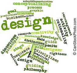 Word cloud for Design - Abstract word cloud for Design with...