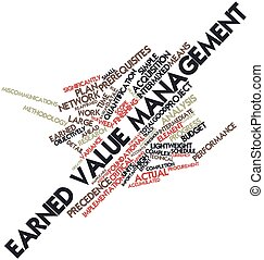 Earned value management - Abstract word cloud for Earned...