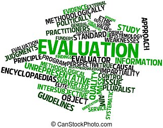 Evaluation - Abstract word cloud for Evaluation with related...