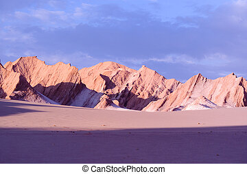 Rock formations at Valle de la Muerte Death Valley, San...