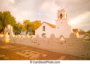 Church of San Pedro de Atacama, Atacama Desert, Chile, South...