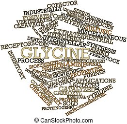 Glycine - Abstract word cloud for Glycine with related tags...