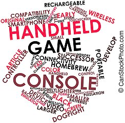 Word cloud for Handheld game console - Abstract word cloud...