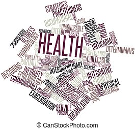 Health - Abstract word cloud for Health with related tags...