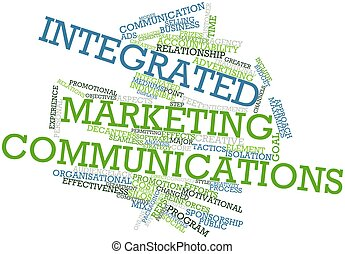 Integrated marketing communications - Abstract word cloud...