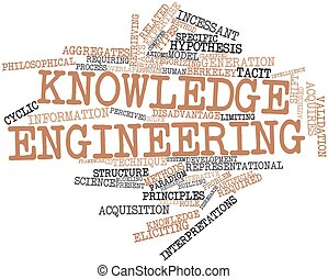 Knowledge engineering - Abstract word cloud for Knowledge...