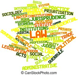Law - Abstract word cloud for Law with related tags and...