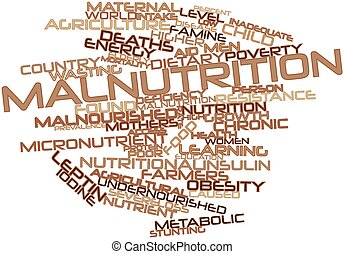 Malnutrition - Abstract word cloud for Malnutrition with...