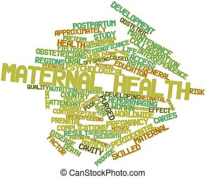 Maternal health - Abstract word cloud for Maternal health...
