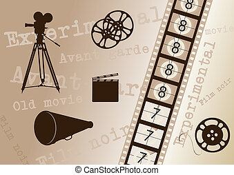 Background with movie elements