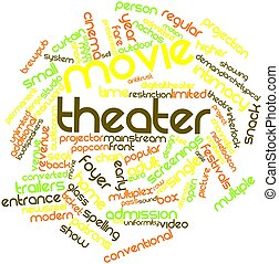 Movie theater - Abstract word cloud for Movie theater with...