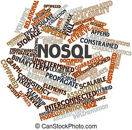 Word cloud for NoSQL - Abstract word cloud for NoSQL with...