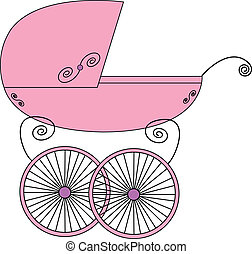 Baby stroller vector illustration