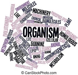 Word cloud for Organism - Abstract word cloud for Organism...