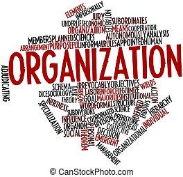 parola, nuvola, organizzazione