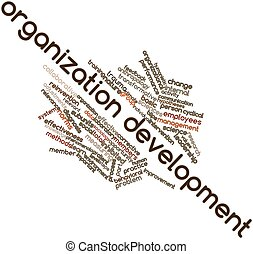 Organization development - Abstract word cloud for...