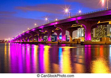 Mac Arthur Causeway, Downtown, Miami, Florida, United States