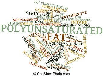 Polyunsaturated fat - Abstract word cloud for...