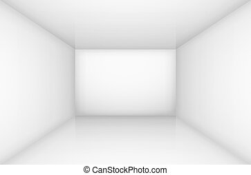 White empty room interior illustration for design