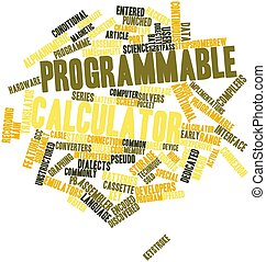 Word cloud for Programmable calculator - Abstract word cloud...