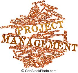 Word cloud for Project management - Abstract word cloud for...