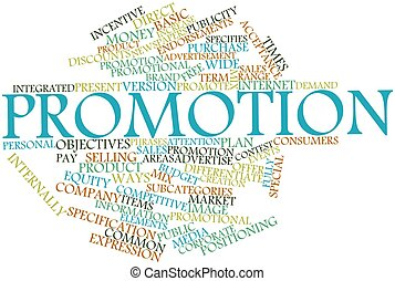 Word cloud for Promotion - Abstract word cloud for Promotion...