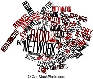 Radio network - Abstract word cloud for Radio network with...