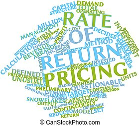 Rate of return pricing - Abstract word cloud for Rate of...