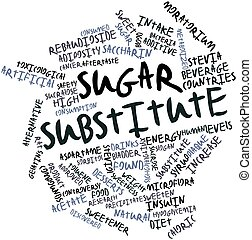 Sugar substitute - Abstract word cloud for Sugar substitute...