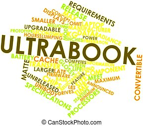 Ultrabook - Abstract word cloud for Ultrabook with related...