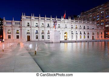 """Palacio de la Moneda, """"La Moneda"""", Chile's presidential and..."""