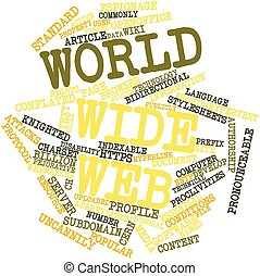 World Wide Web - Abstract word cloud for World Wide Web with...