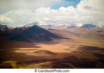Aerial view of the atacama desert, northern Chile