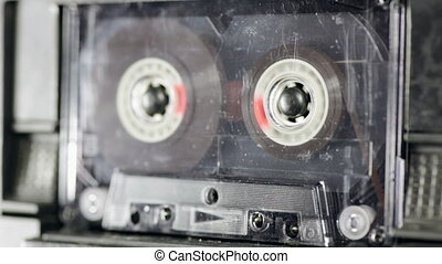 Audio tape recorder playback - Audio deck playing used...