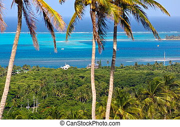 Panoramic view of San Andres Island, Colombia