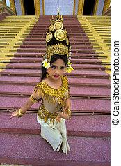 Apsara Dancer beautiful supernatural female in asian...