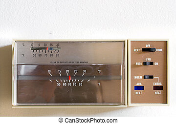 Thermostat - An indoor thermostat control for heating and...
