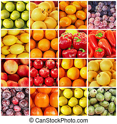 collection of fruit and vagetable backgrounds