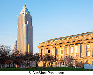 Key Tower and City Hall building at Cleveland, Ohio, USA